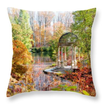 Autumn In Longwood Gardens Throw Pillow