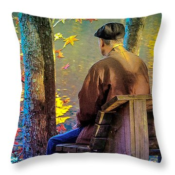 Throw Pillow featuring the photograph Autumn In Our Lives by Ola Allen