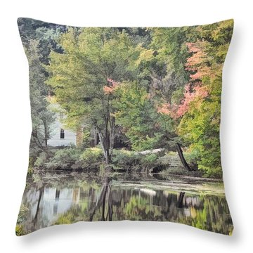 Autumn In Pastel Throw Pillow
