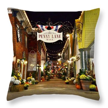 Autumn In Penny Lane - Rehoboth Beach Delaware Throw Pillow