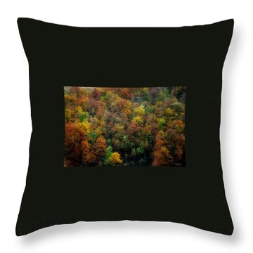 Throw Pillow featuring the photograph Colours Of Autumn by Marija Djedovic
