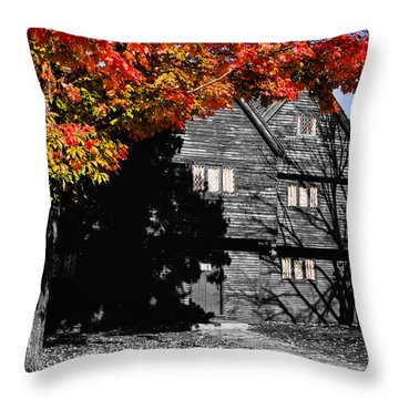 Autumn In Salem Throw Pillow