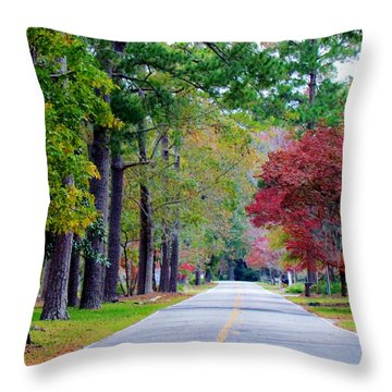 Autumn In The Air Throw Pillow by Cynthia Guinn
