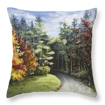 Autumn In The Arboretum Throw Pillow
