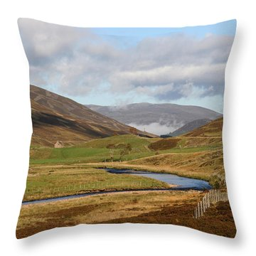 Autumn In The Cairngorms Throw Pillow by John Topman