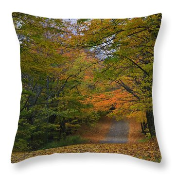 Autumn In The Caledon Hills Throw Pillow