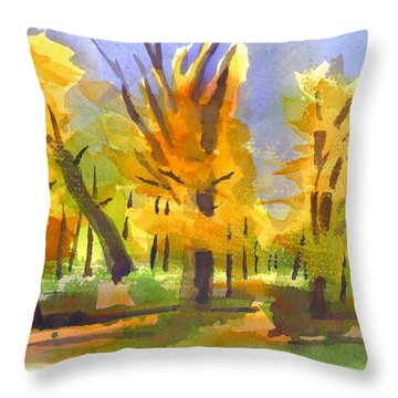 Autumn In The Forest Throw Pillow by Kip DeVore