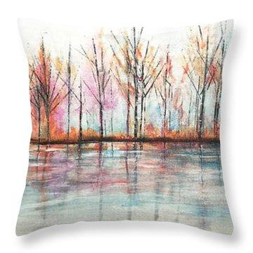 Autumn In The Hamptons Throw Pillow