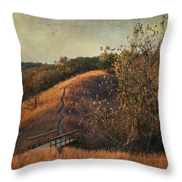 Autumn In The Loess Hills Throw Pillow by Jeff Swanson