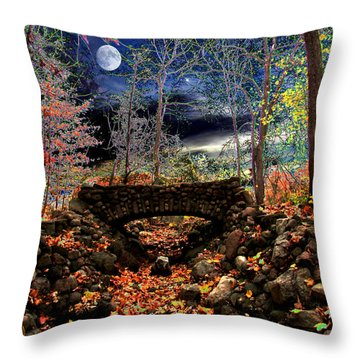 Autumn In The Meadow Throw Pillow