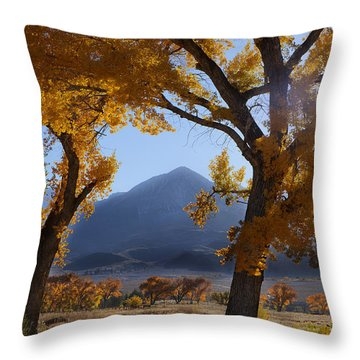 Autumn In The Mountains Throw Pillow