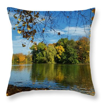 Autumn In The Park 2 Throw Pillow
