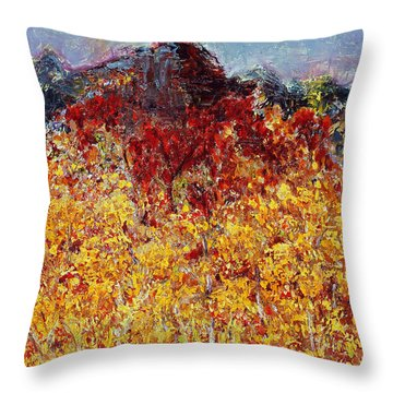 Autumn In The Pioneer Valley Throw Pillow by Regina Valluzzi