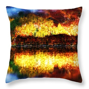 Throw Pillow featuring the photograph Autumn In The Scottish Highlands by Mario Carini
