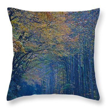 Autumn In The Smoky's  Throw Pillow