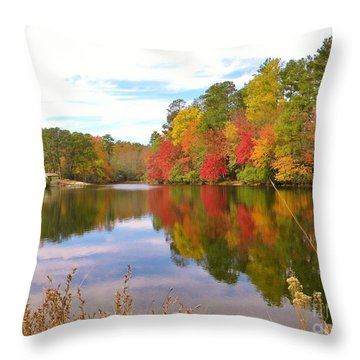 Autumn In The South Throw Pillow