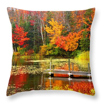 Autumn In Vt Throw Pillow