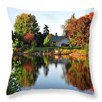 Autumn In Wisconsin Throw Pillow