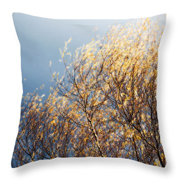Autumn Is Leaving Throw Pillow by Gwyn Newcombe