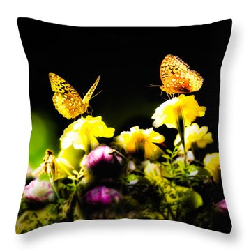 Throw Pillow featuring the photograph Autumn Is When We First Met by Bob Orsillo