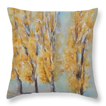 Throw Pillow featuring the painting Autumn  by Jane  See