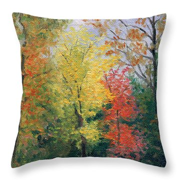 Throw Pillow featuring the painting Autumn by Joe Winkler