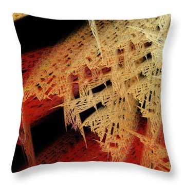 Autumn Lace Throw Pillow by Andee Design