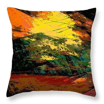 Autumn Landscape Throw Pillow by Klara Acel