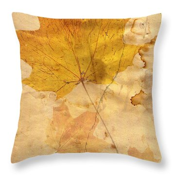 Autumn Leaf In Grunge Style Throw Pillow