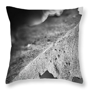 Autumn Leaves B And W Throw Pillow