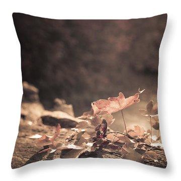 Autumn Leaves Throw Pillow by Amanda Elwell