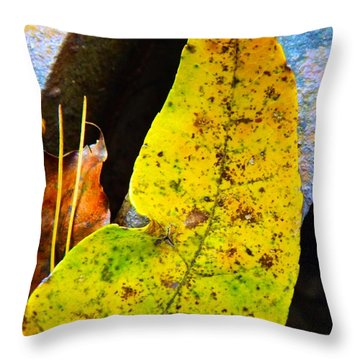Autumn Leaves Throw Pillow by Robyn King