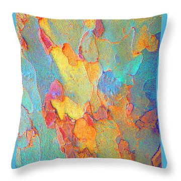 Autumn London Plane Tree Abstract 2 Throw Pillow