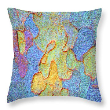 Autumn London Plane Tree Abstract 4 Throw Pillow