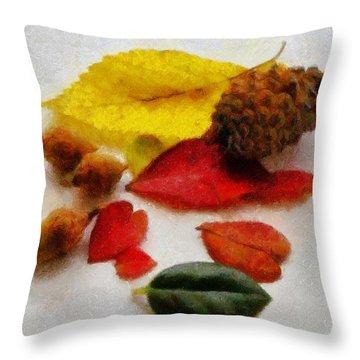 Autumn Medley Throw Pillow by Jeff Kolker