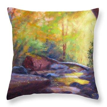 Autumn Memory Throw Pillow by Bonnie Mason