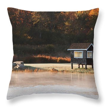 Autumn Mist Throw Pillow by K Hines