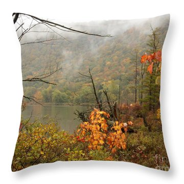Autumn Mist Throw Pillow