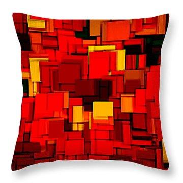 Autumn Modern Abstract Xv Throw Pillow by Lourry Legarde