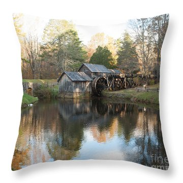 Throw Pillow featuring the photograph Autumn Morning At Mabry Mill by Carol Lynn Coronios