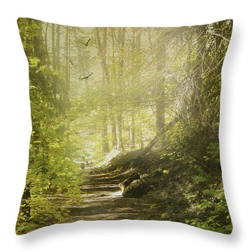 Autumn Myst Throw Pillow