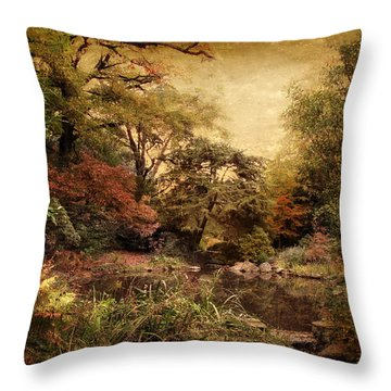 Throw Pillow featuring the photograph Autumn On Canvas by Jessica Jenney