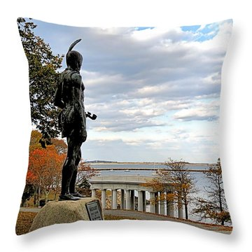 Autumn On Coles Hill Throw Pillow