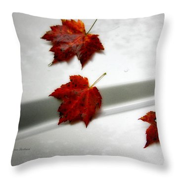 Autumn On The Car Throw Pillow