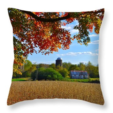 Autumn On The Farm Throw Pillow