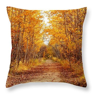 Autumn On The Harte Trail Throw Pillow