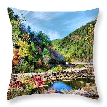 Autumn On The Ocoee Throw Pillow