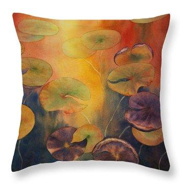 Autumn On Winslow Lake Throw Pillow