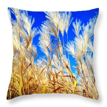 Autumn Pampas Throw Pillow