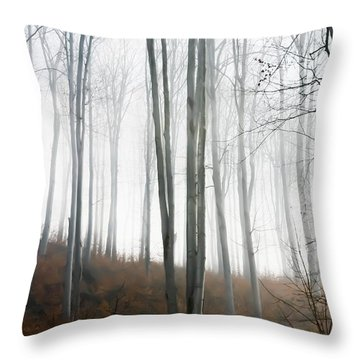 Autumn Pastel Throw Pillow by Ioana Todor